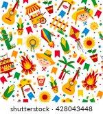 festa junina village festival... | Shutterstock .eps vector #428043448