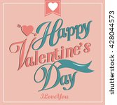 happy valentine day card vector ... | Shutterstock .eps vector #428044573