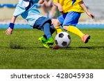 football soccer match for... | Shutterstock . vector #428045938