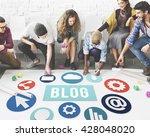 blog blogging content website... | Shutterstock . vector #428048020