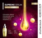 coenzyme q10 serum collagen... | Shutterstock .eps vector #428051329