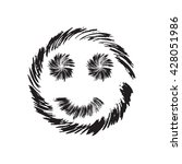 smile face grunge icon symbol...   Shutterstock .eps vector #428051986