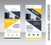 yellow black triangle corporate ... | Shutterstock .eps vector #428052850