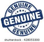 genuine. stamp | Shutterstock .eps vector #428053300