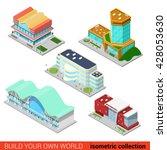 set city building block... | Shutterstock .eps vector #428053630