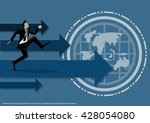 vector business and the success ... | Shutterstock .eps vector #428054080