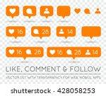 vector like  follower  comment... | Shutterstock .eps vector #428058253
