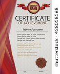 red certificate or diploma... | Shutterstock .eps vector #428058568