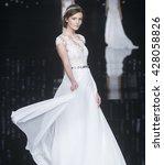 barcelona   april 29  a model... | Shutterstock . vector #428058826