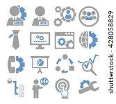 system  user  administrator... | Shutterstock .eps vector #428058829