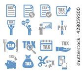 tax  tariff icon set | Shutterstock .eps vector #428059300