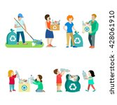 family life recycling creative...   Shutterstock .eps vector #428061910