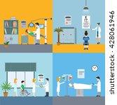 medicine infographic elements... | Shutterstock .eps vector #428061946