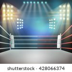 boxing ring with illumination... | Shutterstock . vector #428066374