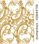 baroque seamless pattern on a... | Shutterstock .eps vector #428069758