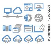 network  server icon set | Shutterstock .eps vector #428072206