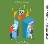 easy bank business finance... | Shutterstock .eps vector #428073103