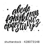 Vector Alphabet. Exclusive Custom Letters. Lettering and Custom Typography for Designs: Logo, for Poster, Invitation, Card, etc. Vector Brush Typography. Handwritten brush style modern cursive font.  - stock vector