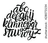 hand drawn alphabet font.... | Shutterstock .eps vector #428073154
