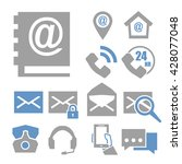 mail and call icon set | Shutterstock .eps vector #428077048