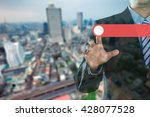 rear view of business person in ...   Shutterstock . vector #428077528
