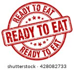ready to eat. stamp | Shutterstock .eps vector #428082733