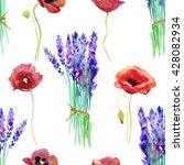 watercolor seamless pattern... | Shutterstock . vector #428082934