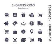 shopping icons. | Shutterstock .eps vector #428084938