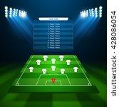 soccer field  vector | Shutterstock .eps vector #428086054