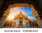 landmark of marble temple of... | Shutterstock . vector #428086363