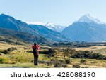 a man is taking a photograph of ... | Shutterstock . vector #428088190