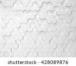 hexagonal background. 3d... | Shutterstock . vector #428089876