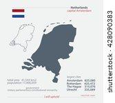 kingdom of the netherlands... | Shutterstock .eps vector #428090383