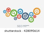 seo mechanism concept. abstract ... | Shutterstock .eps vector #428090614