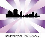 datalnyj silhouette of the city | Shutterstock .eps vector #42809227
