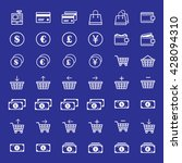 e commerce icon set | Shutterstock .eps vector #428094310