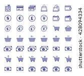 e commerce icon set | Shutterstock .eps vector #428094334