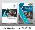 blue fold technology annual... | Shutterstock .eps vector #428095228