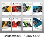 template set technology annual...   Shutterstock .eps vector #428095270