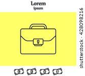 briefcase  case   the line icon   Shutterstock .eps vector #428098216
