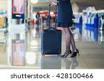 beautiful female passenger or... | Shutterstock . vector #428100466