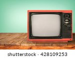 retro television   old tv on... | Shutterstock . vector #428109253