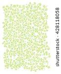 floral doodle background | Shutterstock .eps vector #428118058