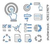 audit survey icon set | Shutterstock .eps vector #428119879
