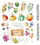 bright collection with fall... | Shutterstock . vector #428121904