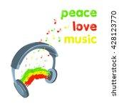 raster copy. reggae peace love... | Shutterstock . vector #428123770