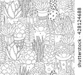 Seamless Pattern With Set Of...