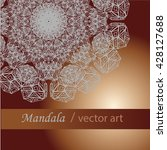card or invitation with mandala.... | Shutterstock .eps vector #428127688
