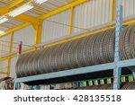 tire shelf  in garage   Shutterstock . vector #428135518