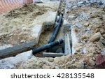 plumbing repair work which must ... | Shutterstock . vector #428135548